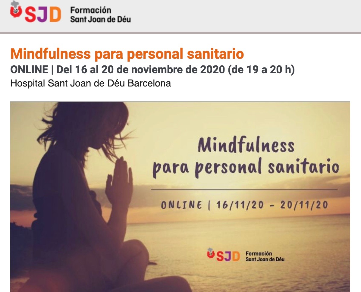 Curso de mindfulness online para personal sanitario